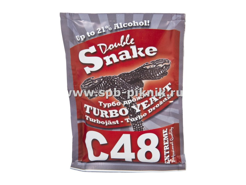 Турбо-дрожжи Double Snake Turbo Yeast C48 Turbo